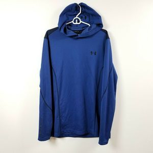 Under Armour Mens Hoodie Sweatshirt XL Fitted Blue